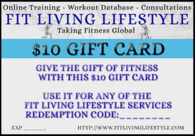 Fit Living Lifestyle Fitness Gift card