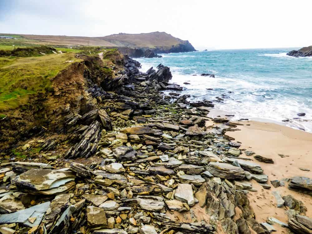 Clogher Strand Beach hikes in Ireland