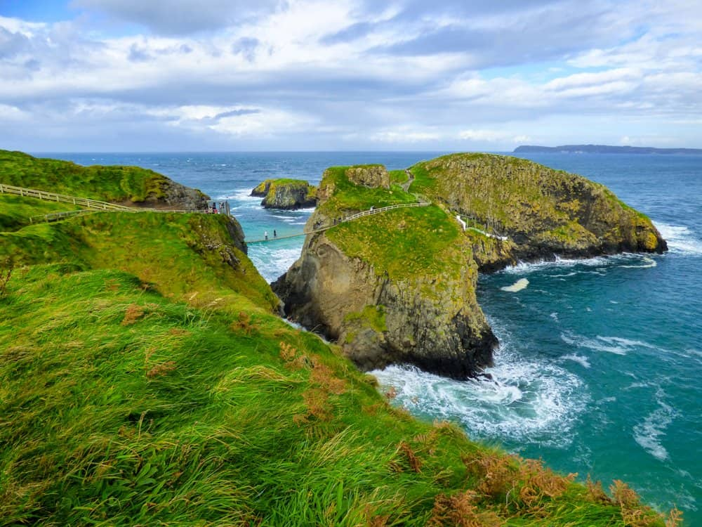 Carrick-a-Rede Rope Bridge best hikes in Ireland