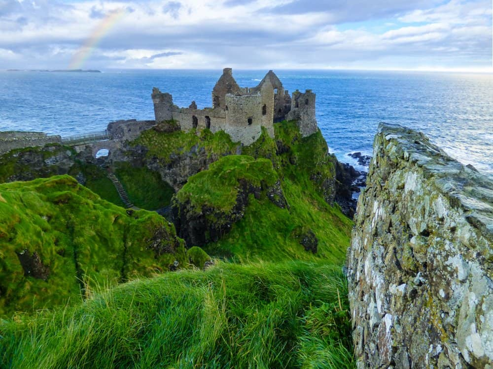 Dunluce Castle and cliff walk