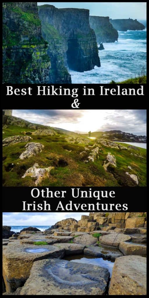 Best Hiking in Ireland and other unique Irish Adventures Pinterest Pin