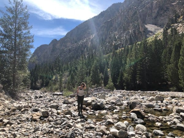 girl on high sierra trail