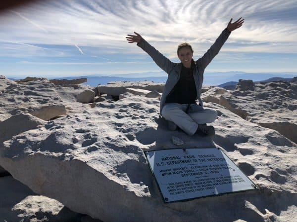 summiting mt whitney